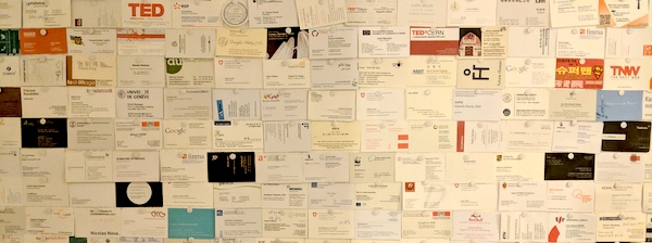 Crstl Office Business Card Wall